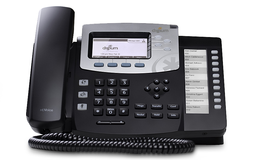 تلفن شبکه دیجیوم D50 IP Phone